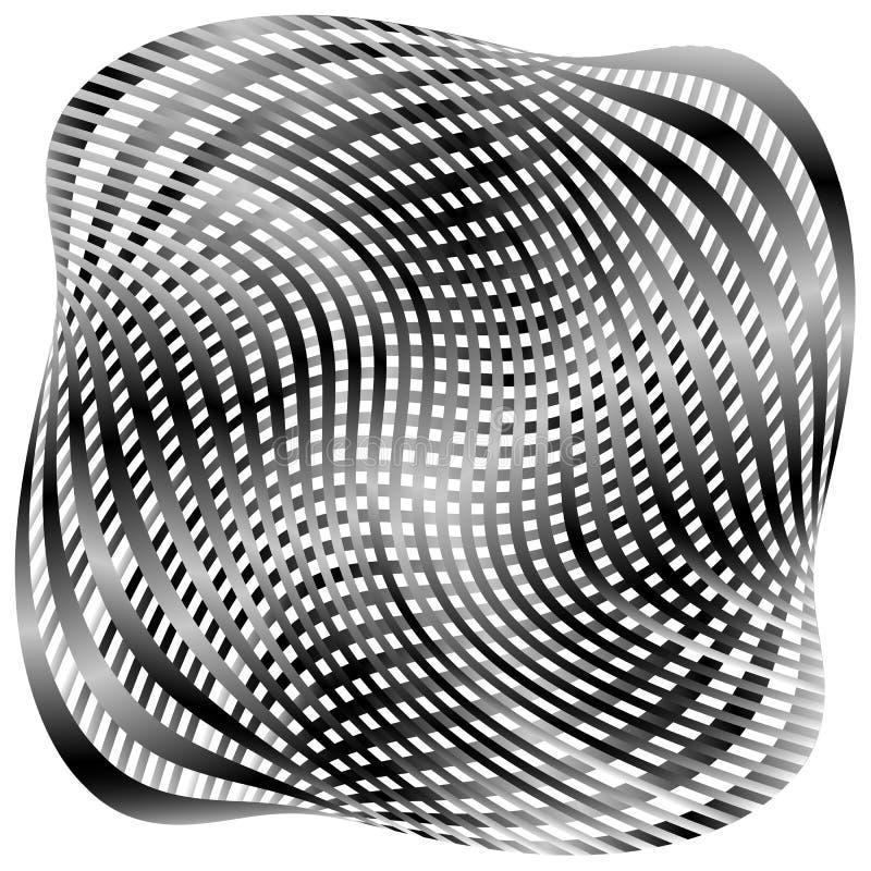 Download Решетка, картина сетки с искажением абстрактная геометрическая картина Иллюстрация вектора - иллюстрации насчитывающей иллюзорно, решетка: 81803984