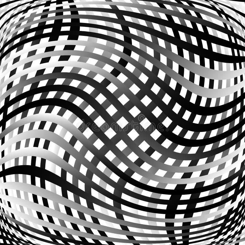 Download Решетка, картина сетки с искажением абстрактная геометрическая картина Иллюстрация вектора - иллюстрации насчитывающей monochrome, вакханические: 81804208