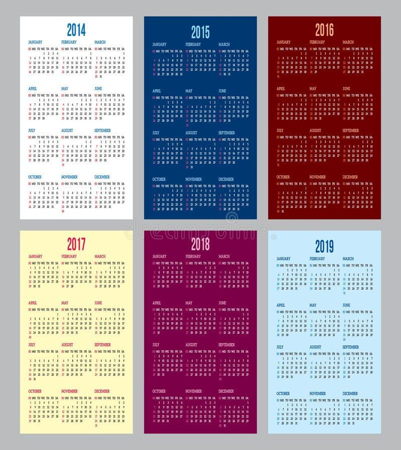 Решетка календаря иллюстрация вектора
