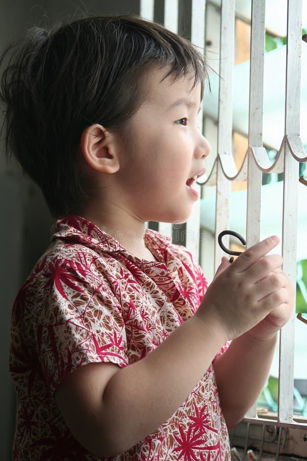 решетка мальчика стоковые фото