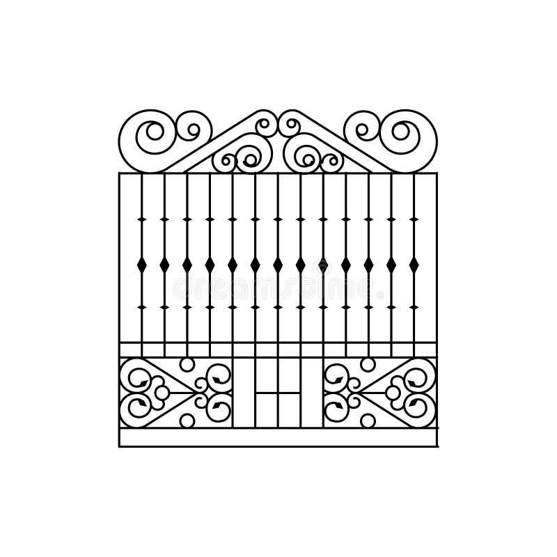 Решетка металла ограждая дизайн иллюстрация вектора