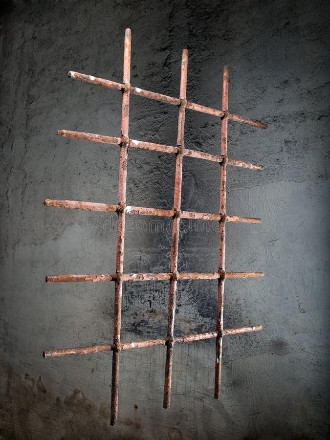 Решетка окна утюга стоковое фото