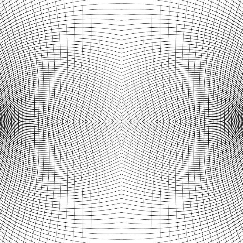 Download Решетка передернутых динамических линий Repeatable Изогнутые линии Geomet Иллюстрация вектора - иллюстрации насчитывающей погиб, передернуто: 81803251
