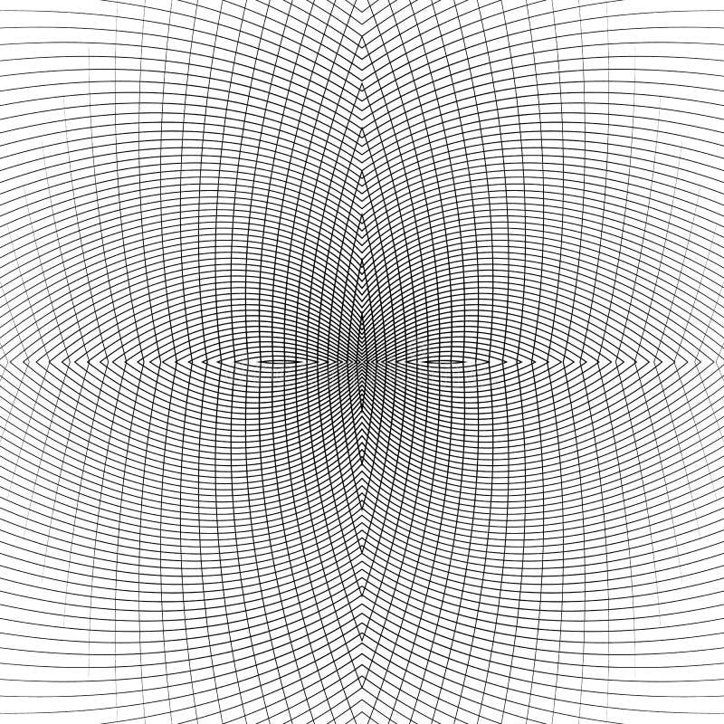 Download Решетка передернутых динамических линий Repeatable Изогнутые линии Geomet Иллюстрация вектора - иллюстрации насчитывающей искажение, изогнуто: 81803275