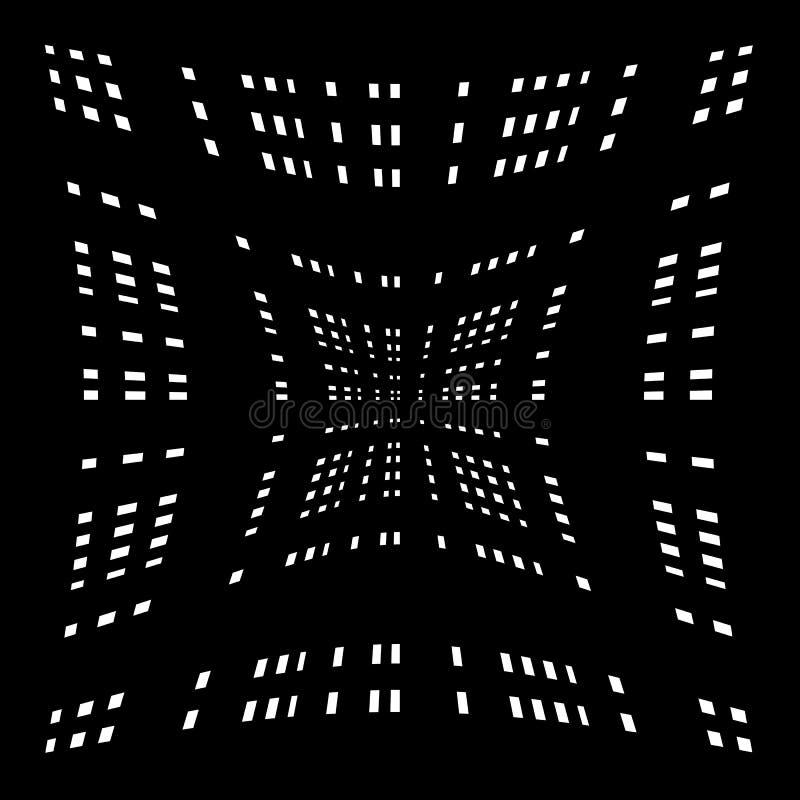 Download Решетка, сетка передернутых линий Геометрическая Monochrome текстура Иллюстрация вектора - иллюстрации насчитывающей клетчато, скрежетать: 81803803