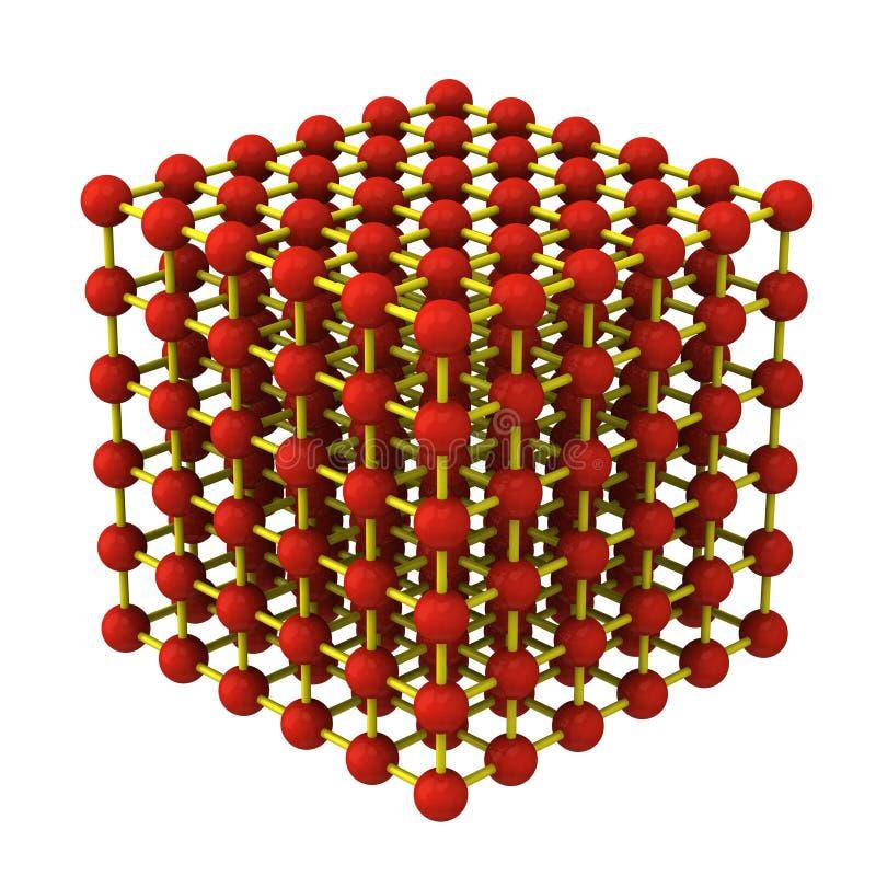 решетчатая структура кристалла 3d иллюстрация штока