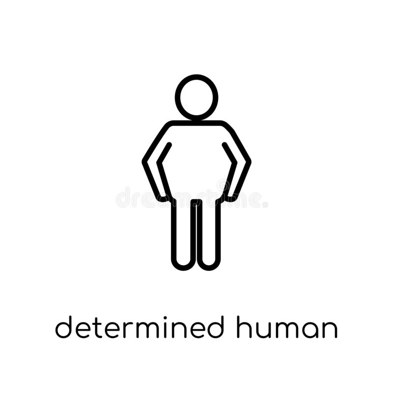 решительный человеческий значок Ультрамодное современное плоское линейное determin вектора бесплатная иллюстрация