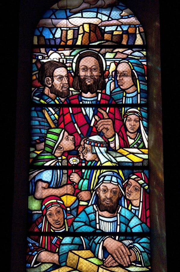 Религиозное представление жизни Иисуса Христоса стоковая фотография