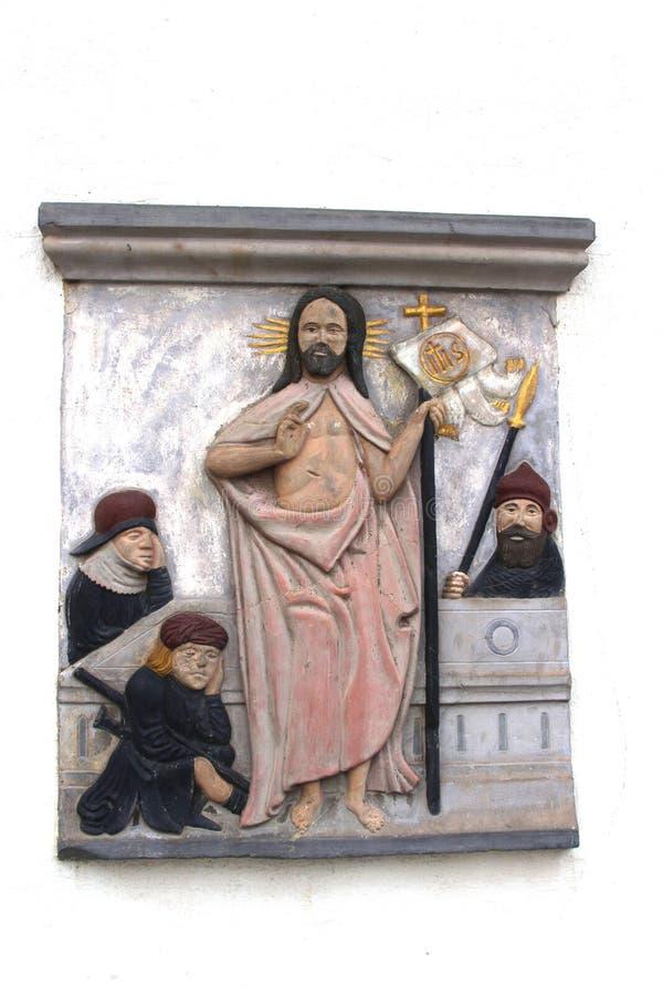 Религиозное украшение на доме Мартина Luther стоковое изображение rf