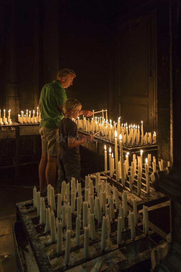 Религиозные преданности - Маастрихт - Нидерланды стоковое фото