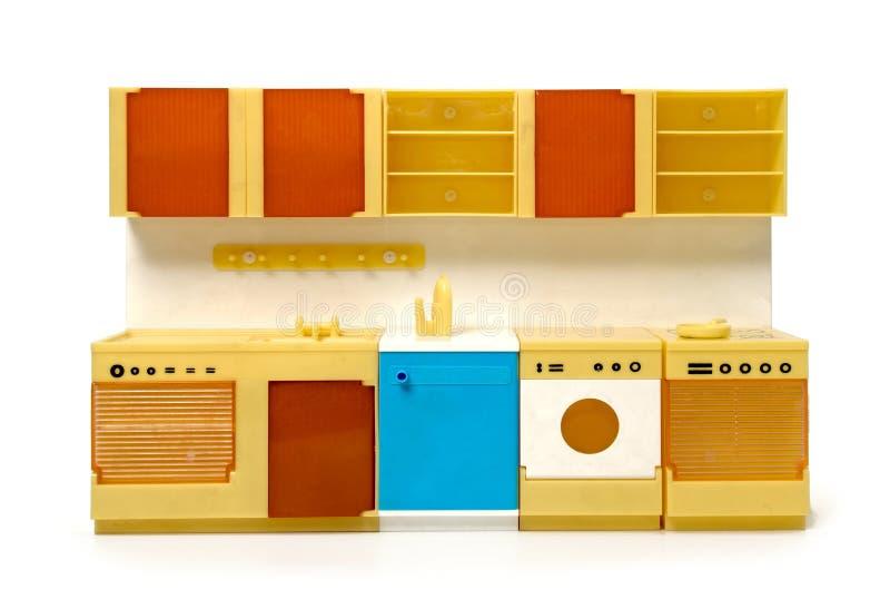 Редкая пластичная кухня игрушки стоковые изображения rf