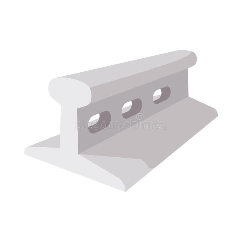 Рельс для железнодорожного значка шаржа конструкции иллюстрация штока