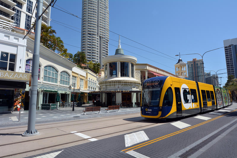 Рельс g света Gold Coast - Квинсленд Австралия стоковая фотография rf