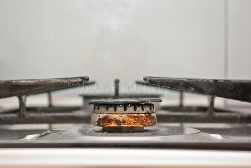 Ржавая газовая горелка стоковое фото