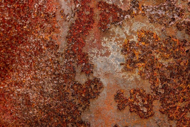 Ржавая корозия окислила поверхность текстуры утюга Старый заржаветый металл стоковые изображения