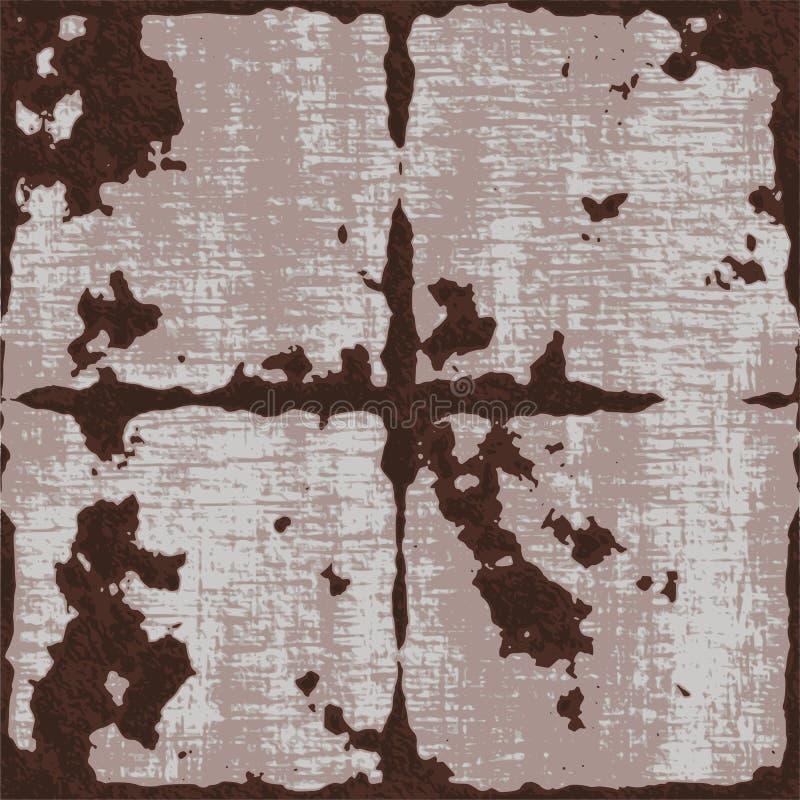 Ржавая предпосылка металла grunge иллюстрация штока