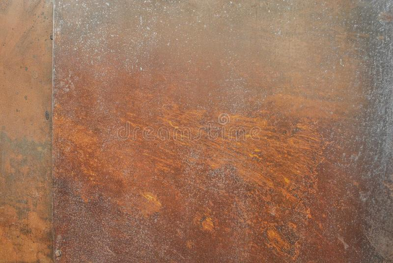 Ржавая предпосылка текстуры металла для внутреннего внешнего дизайна концепции украшения и индустриального строительства стоковые изображения rf