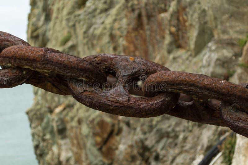Ржавая цепь стоковое изображение rf