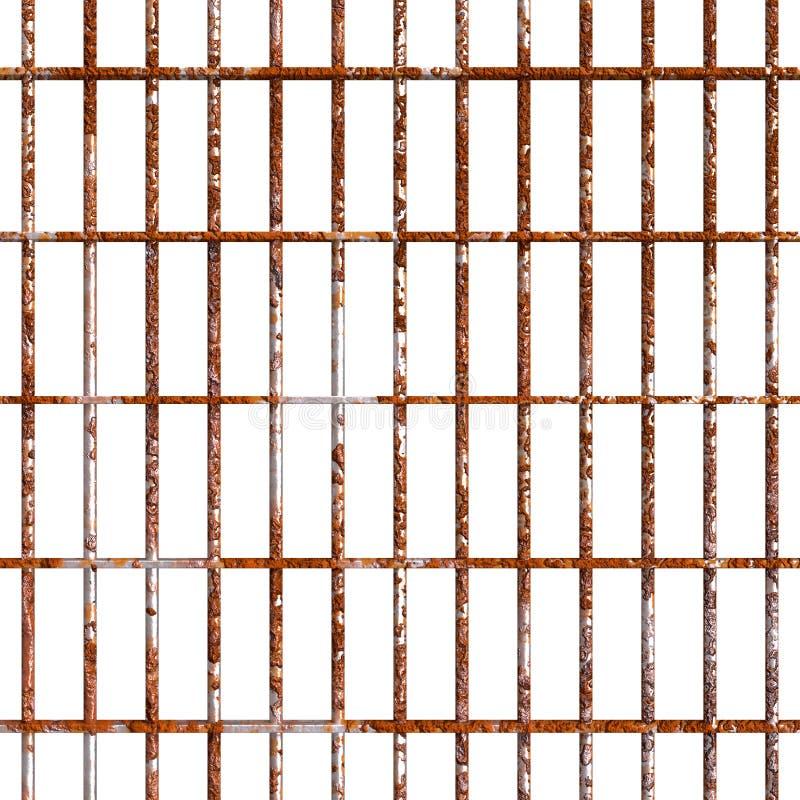 Ржавея бары тюрьмы иллюстрация вектора