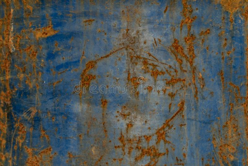 Ржавчина на старой стали голубая стальная текстура окиси стоковые изображения rf