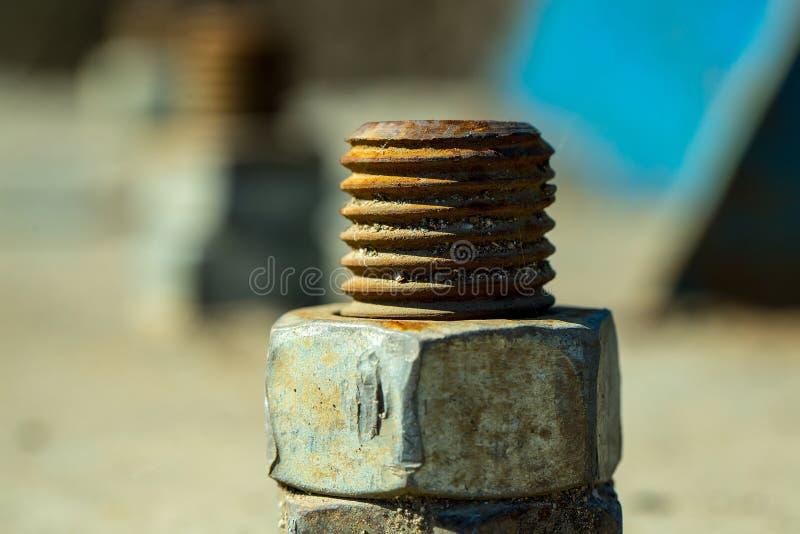 Ржавые винты металла стоковое фото rf