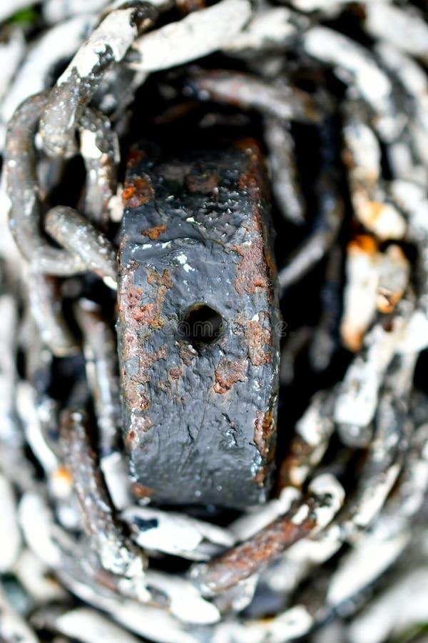 Ржавые цепи металла стоковое фото