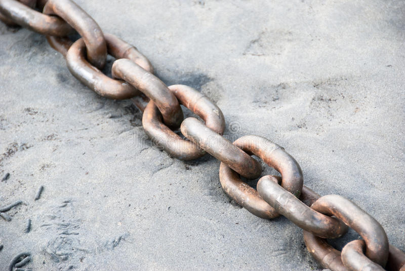 Ржавые цепи стоковое фото rf