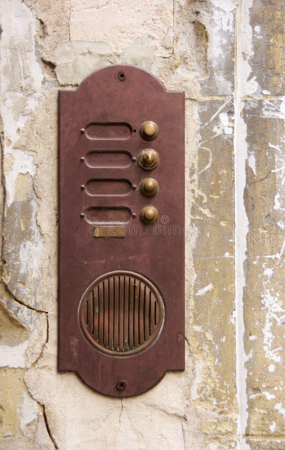 Ржавый дверной звонок стоковое изображение rf