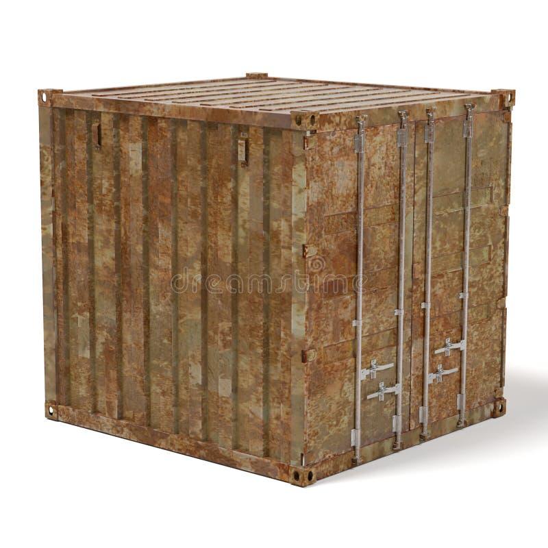 Ржавый грузовой контейнер бесплатная иллюстрация