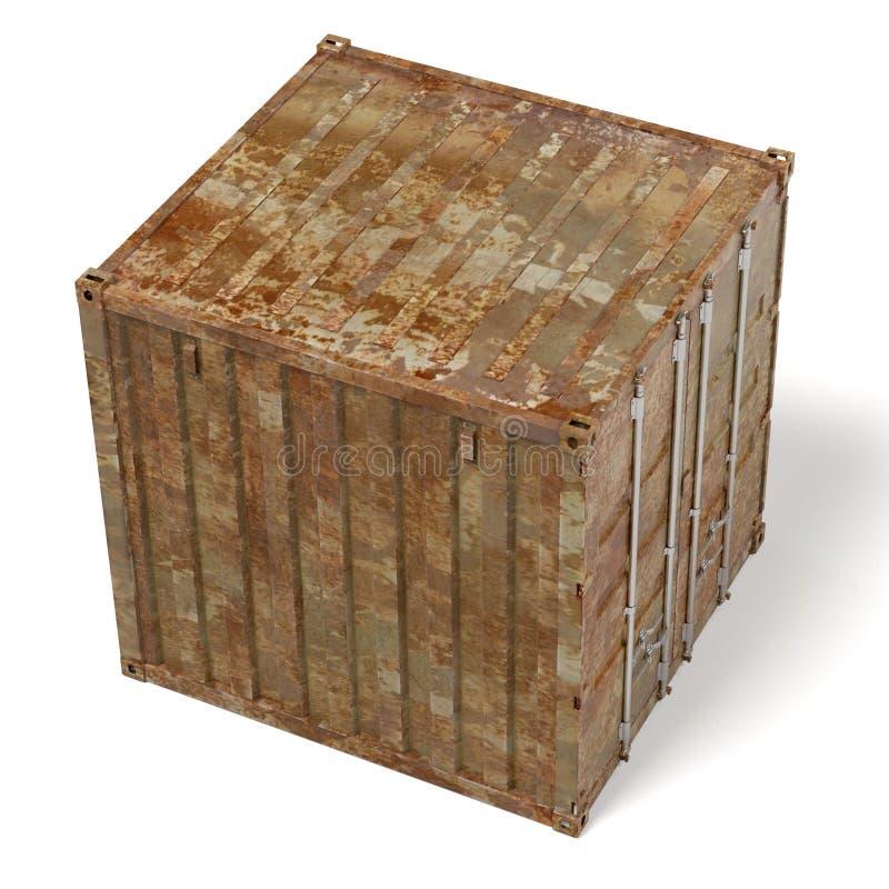 Ржавый грузовой контейнер иллюстрация вектора