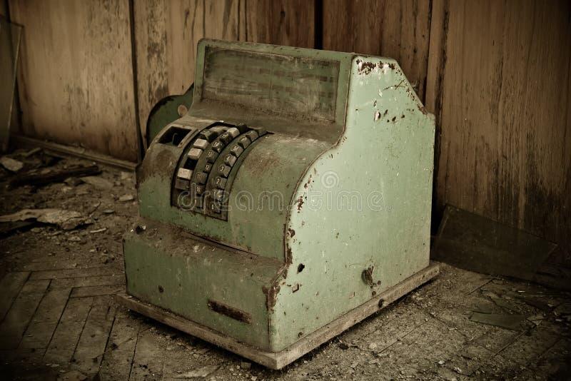 Ржавый загубленный советский банкомат стоковое изображение rf