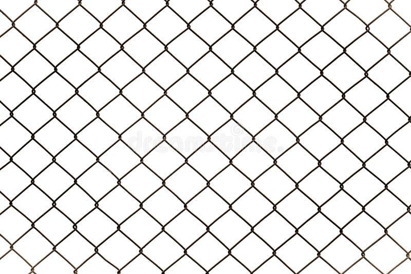 Ржавый ограждать звена цепи изолированный на белой предпосылке стоковое фото