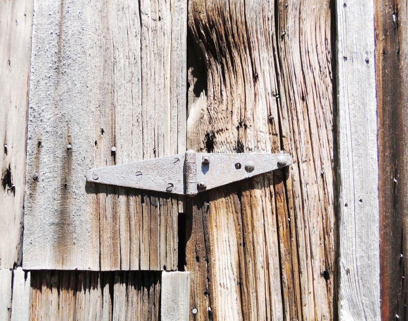 Ржавый постаретый железный выдержанный шарнир стоковая фотография