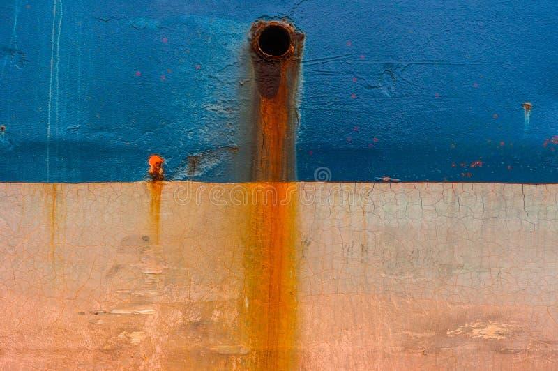 Ржавый украдите текстуру шлюпки топливозаправщика стоковое изображение