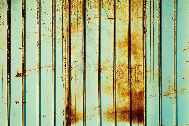 Ржавый цвет мяты загородки Предпосылка цвета мяты стоковая фотография rf