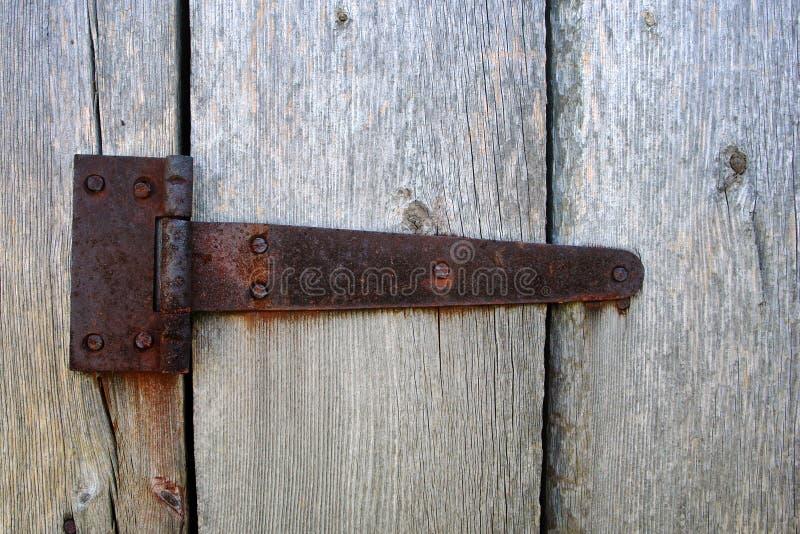 Ржавый шарнир двери стоковое изображение