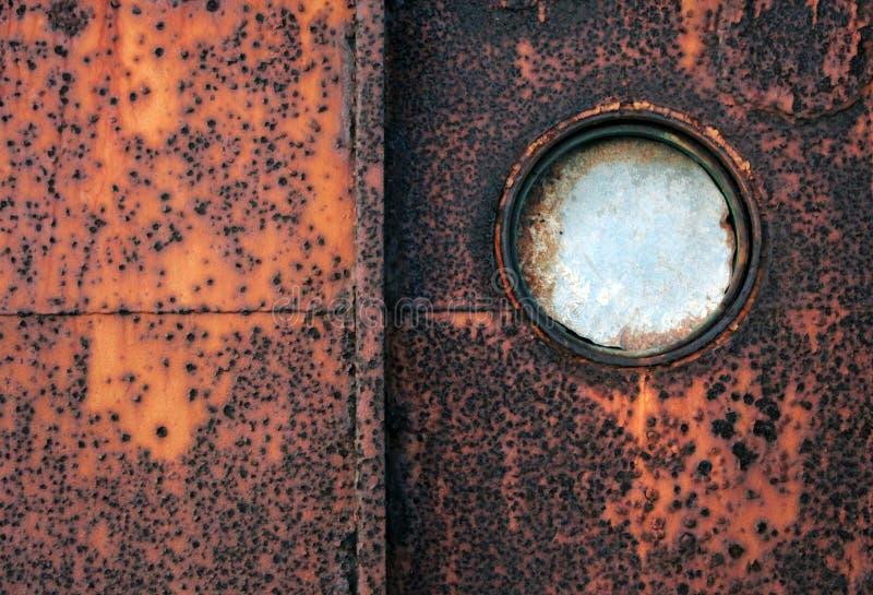 Ржавый porthole стоковая фотография