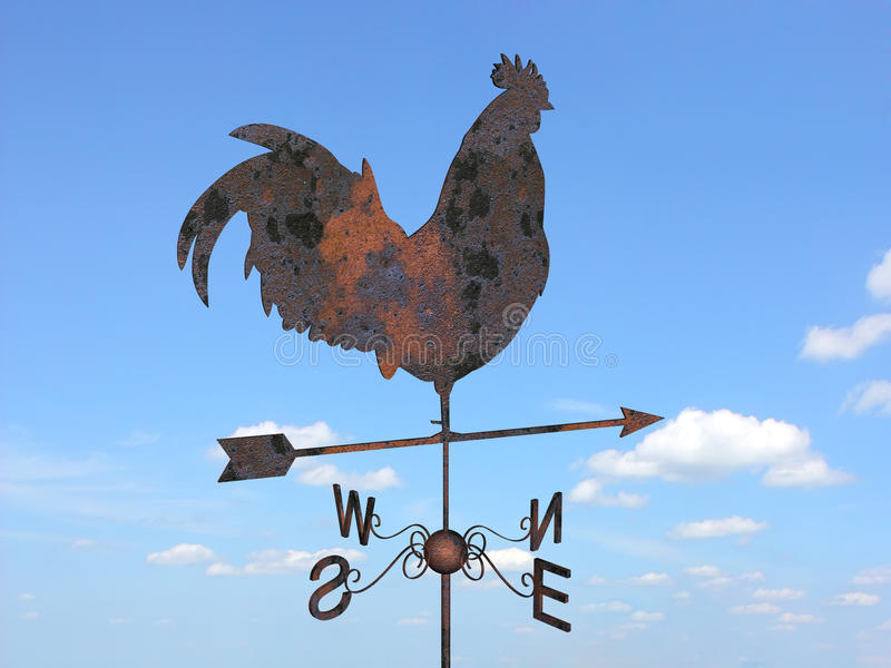 ржавый weathercock иллюстрация штока