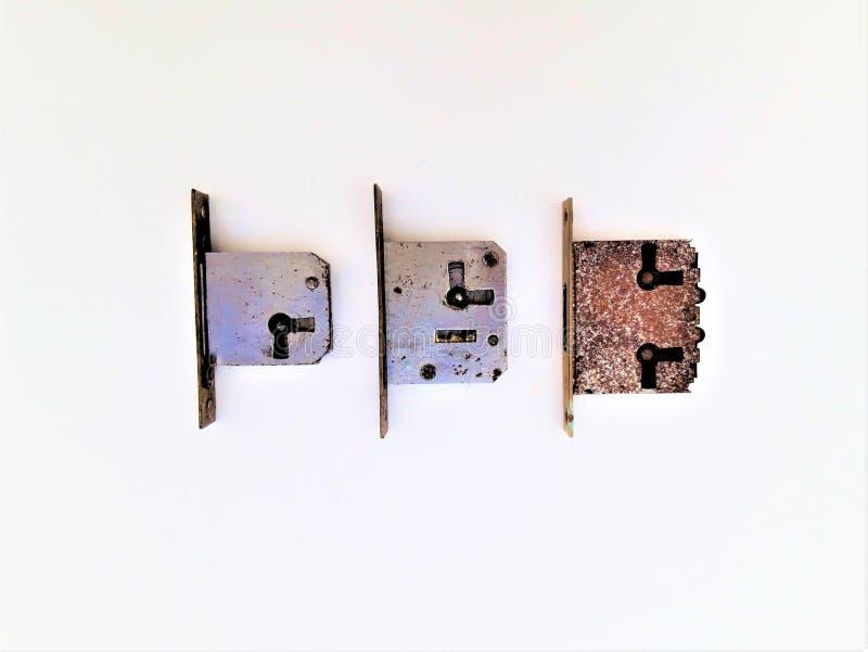 3 ржавых замка стоковая фотография rf
