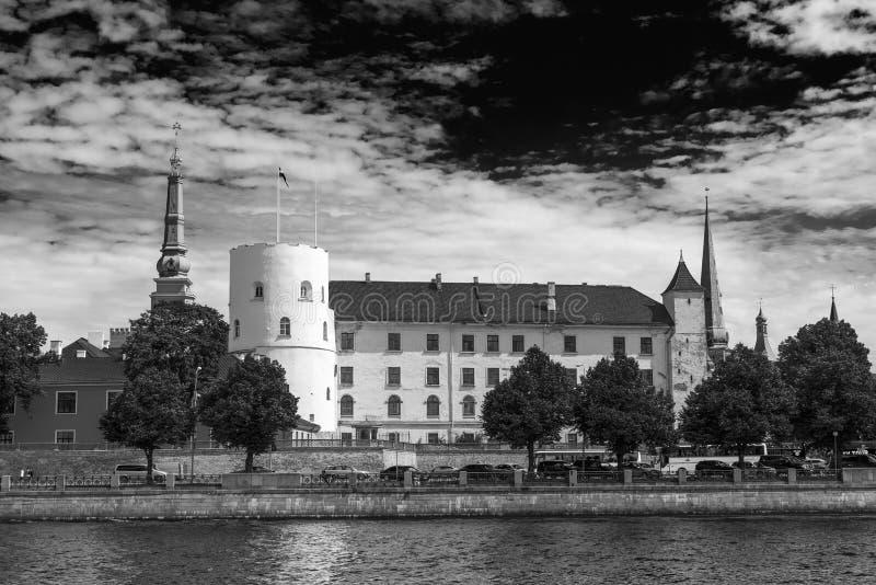 РИГА, ЛАТВИЯ - 7-ОЕ ИЮЛЯ 2017: Архитектурноакустическая деталь города r стоковое изображение