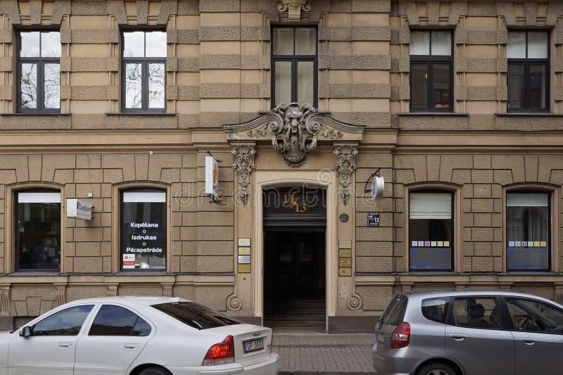 Рига, улица Blaumanja 11-13, исторические здания стоковые изображения