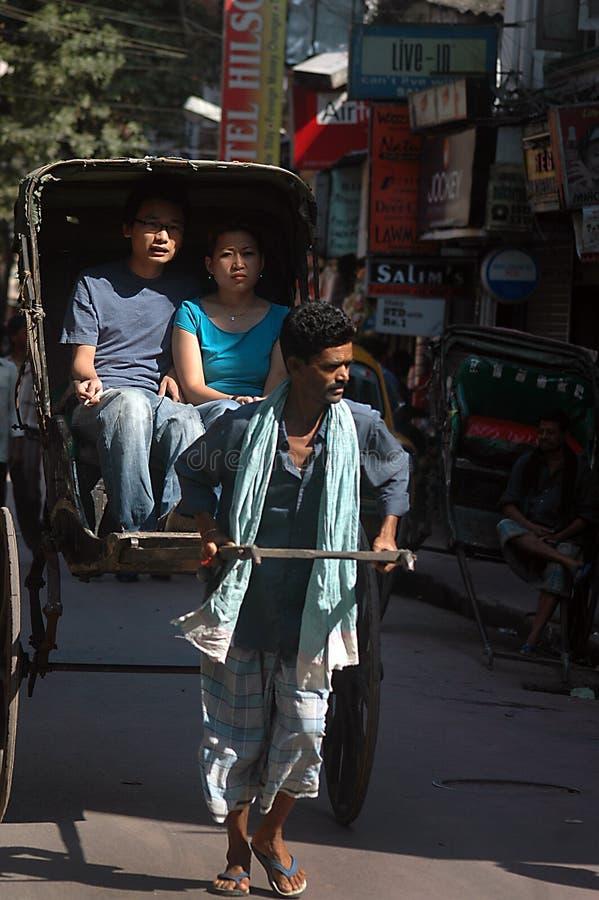 рикша вытягиванная рукой стоковые фотографии rf