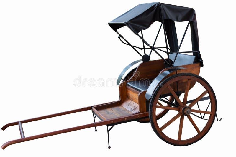 Рикша изолированная на белом предпосылка стоковая фотография rf