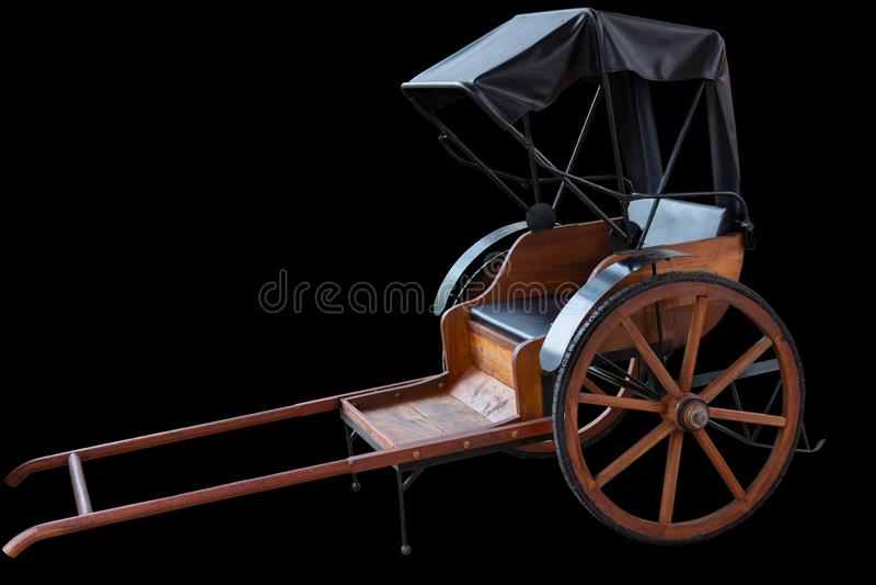 Рикша на черной предпосылке стоковые фотографии rf