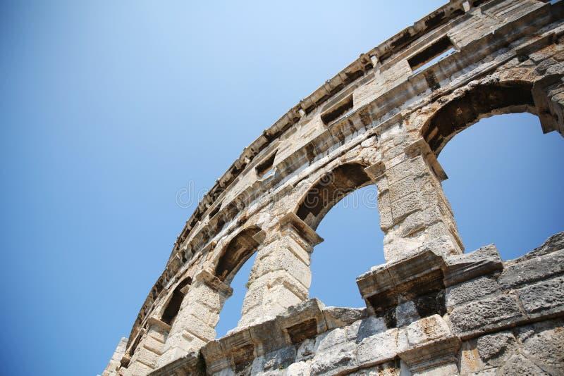 Римская арена амфитеатра в пулах, Хорватии стоковые фото