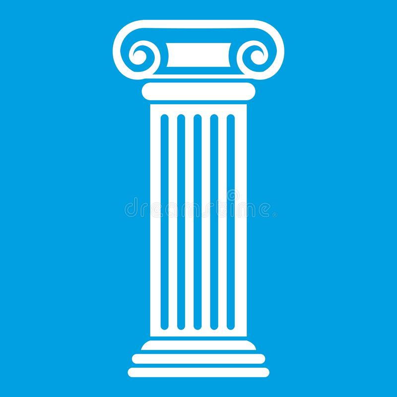 Римская белизна значка столбца иллюстрация вектора