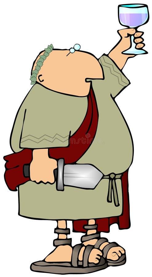 римская здравица иллюстрация штока