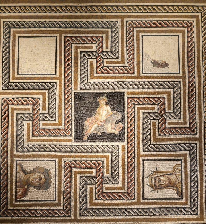 Римская мозаика Лион Франция стоковое изображение