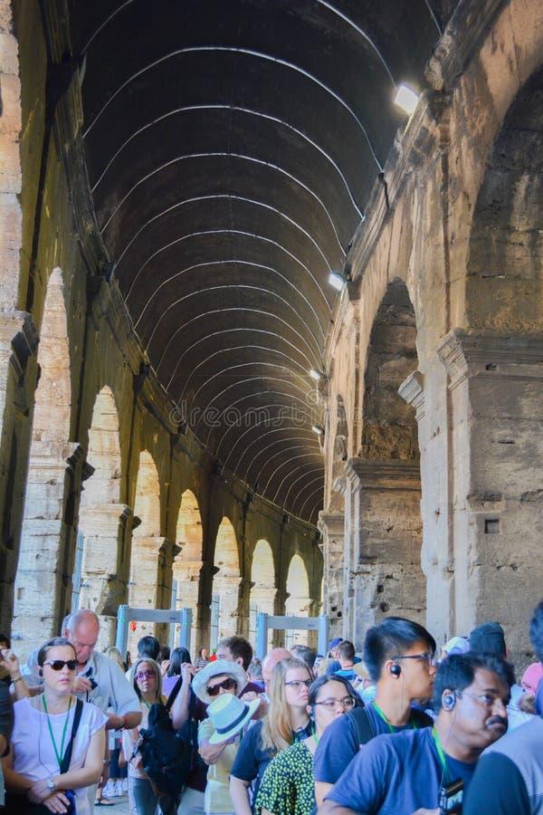 Римская очередь входа colosseum стоковая фотография