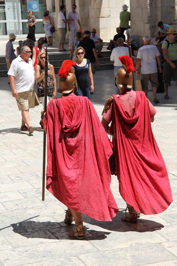 Римские актеры на дворце Diocletian стоковая фотография rf